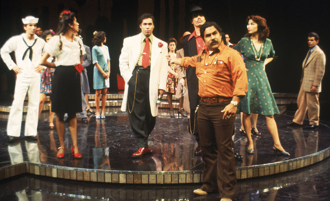 "Luis Valdez, who wrote and directed ""Zoot Suit,"" with the cast of the original production in 1978. Credit Jay Thompson, via Center Theater Group"