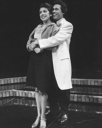 "Rose Portillo and Danny Valdez in ""Zoot Suit"" in 1978. (Photo by Jay Thompson)"
